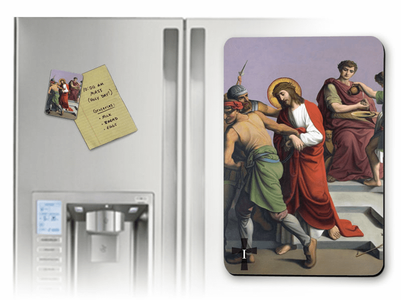 Nelson's Stations of the Cross Solid Wood 14pc Magnet Set