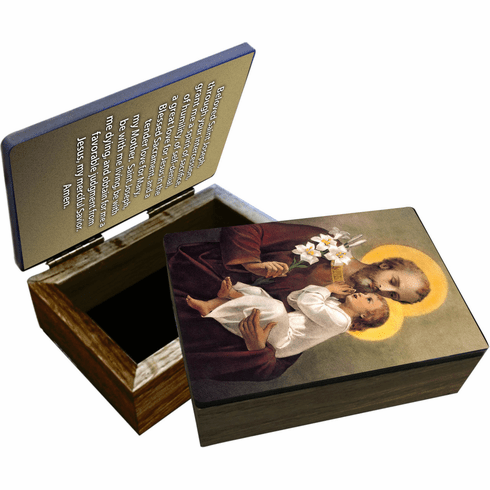 Nelson's The Younger Saint Joseph Wooden Rosary and Keepsake Box