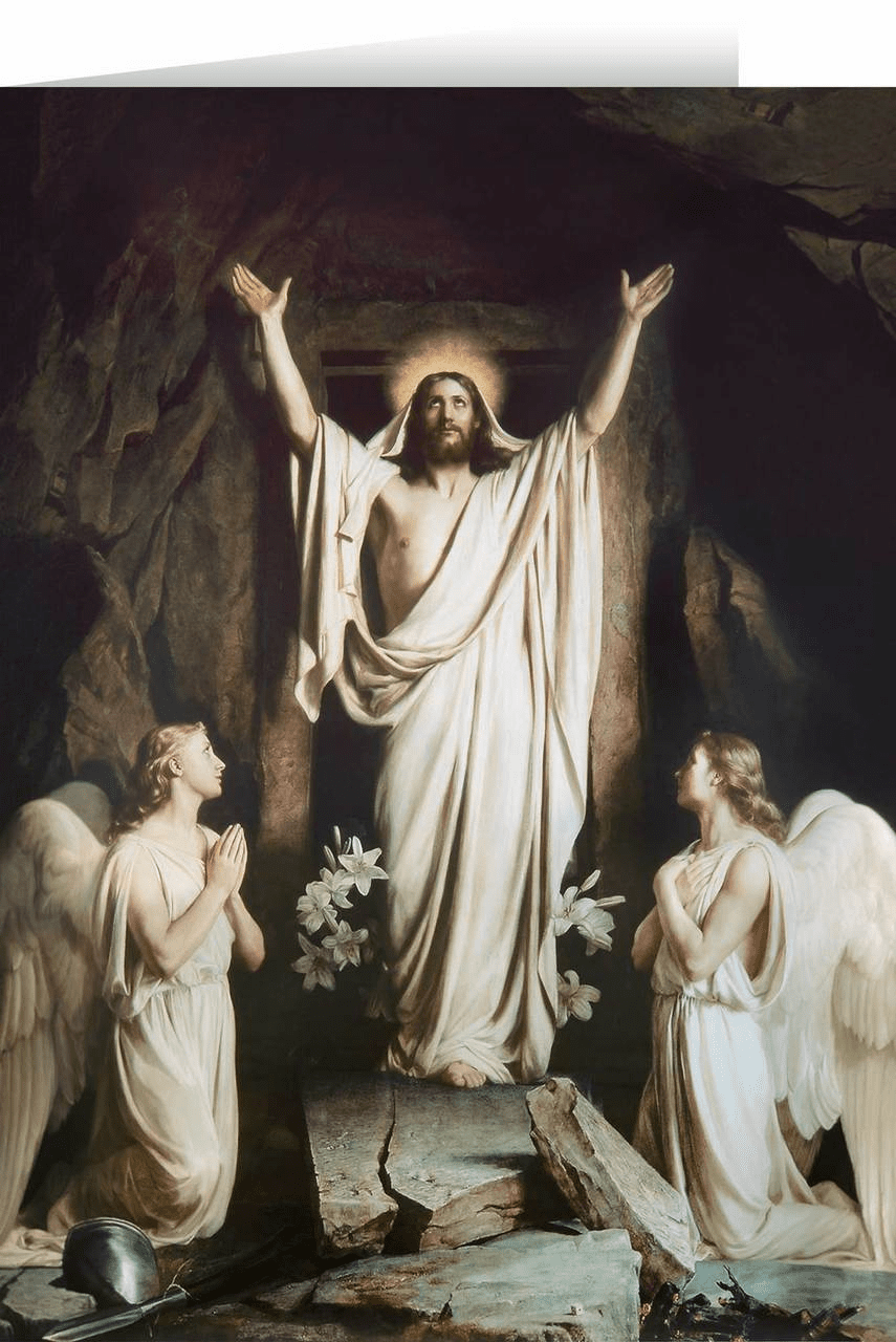 Nelson The Resurrection by Bloch Easter Season Greeting Card