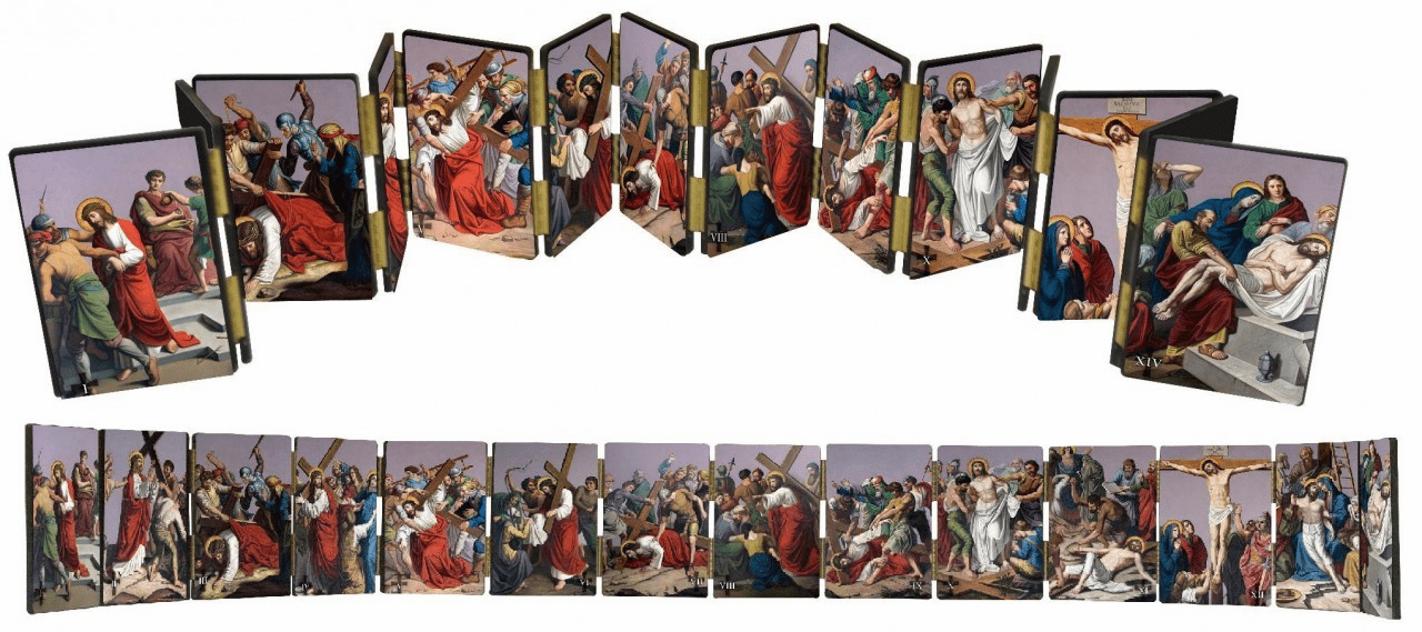 Nelsons Gifts Stations of the Cross Hinged Home Mantle Set