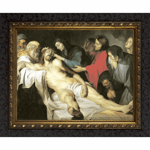 Nelsons Gifts The Lamentations Ornate Dark Framed Wall Art Picture