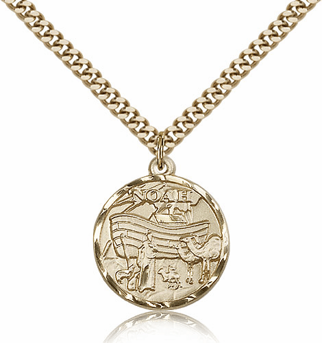 Noah Ark 14kt Gold-filled Medal Necklace with Chain by Bliss