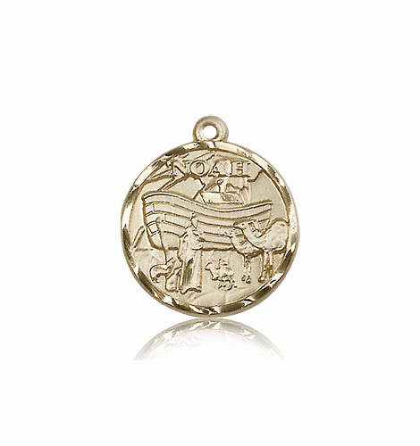 Noah Ark 14kt Solid Gold Medal Pendant by Bliss