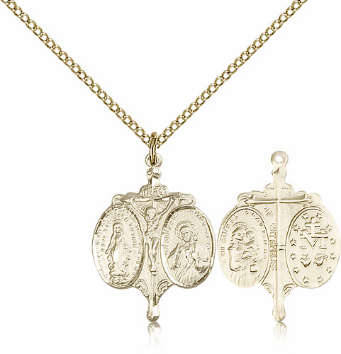Novena Gold Filled Pendant Necklace with Chain by Bliss