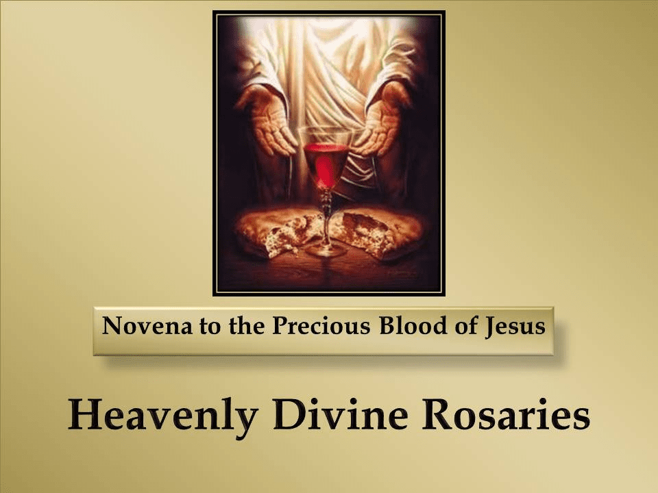 Novena to the Precious Blood of Jesus