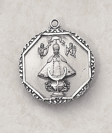 Octagon Virgins de San Juan Sterling Pendant w/Chain by Creed Jewelry