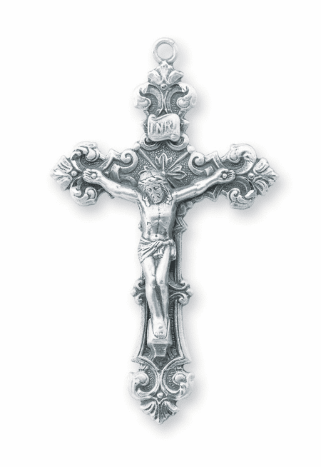 Ornate Scroll Sterling Silver Crucifix Rosary Part by HMH Religious