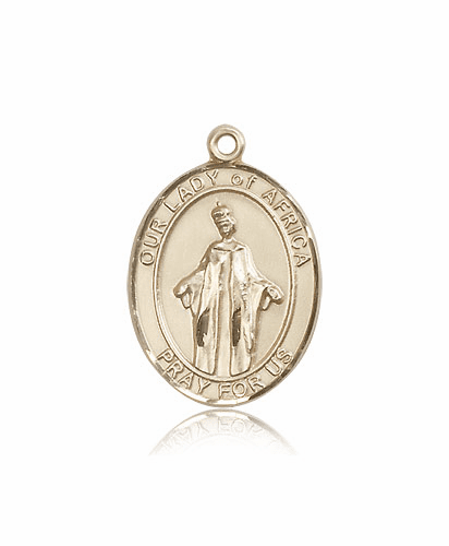 Our Lady of Africa 14kt Gold Medal Pendant by Bliss
