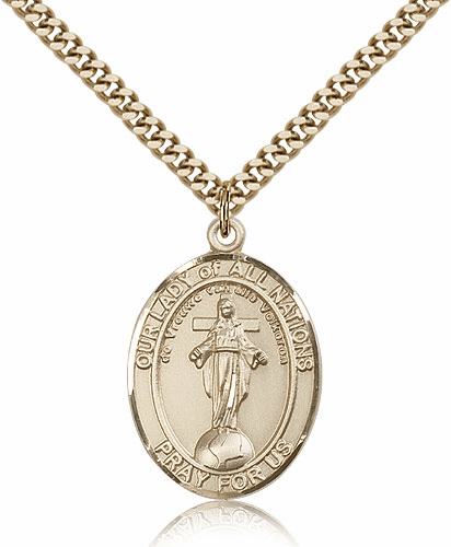 Our Lady of all Nations Patron Saint 14kt Gold-filled Necklace by Bliss