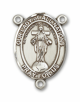 Our Lady of all Nations Sterling Silver Saint Rosary Center by Bliss