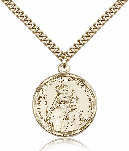 Our Lady of Consolation 14kt Gold Filled Pendant by Bliss