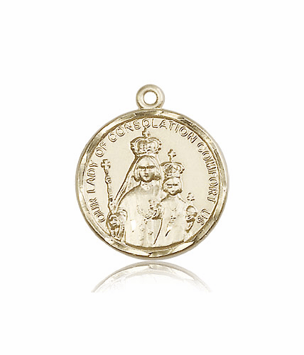 Our Lady of Consolation 14kt Gold Medal by Bliss