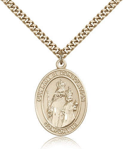 Our Lady of Consolation Patron 14kt Gold Filled Pendant by Bliss