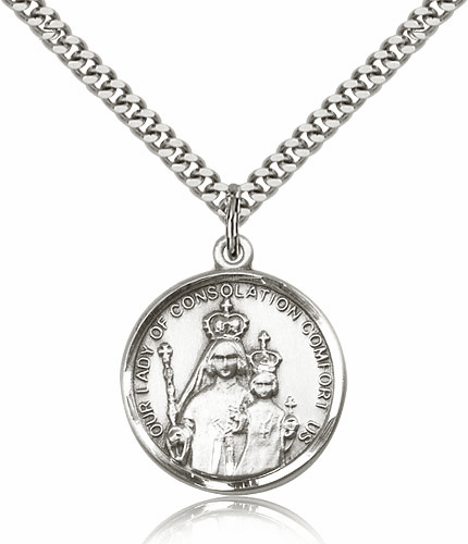 Our Lady of Consolation Sterling Silver Pendant by Bliss