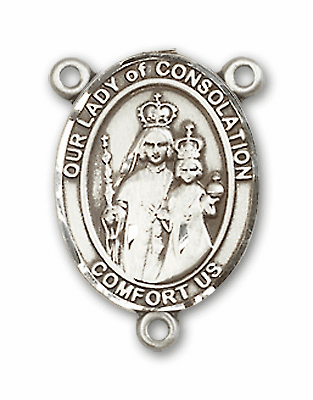 Our Lady of Consolation Sterling Silver Saint Rosary Center by Bliss