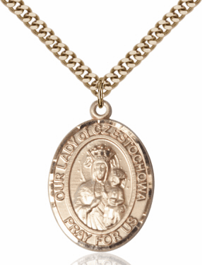Our Lady of Czestochowa 14kt Gold-filled Saint Necklace by Bliss