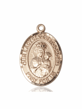 Our Lady of Czestochowa 14kt Gold Patron Saint Pendant Medal by Bliss