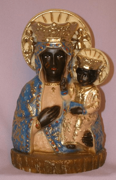 Our Lady of Czestochowa Alabaster Statue