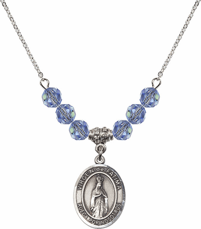 Our Lady of Fatima Beaded Charm Necklaces