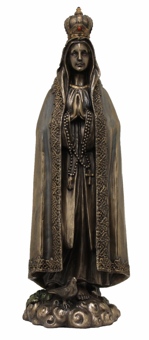 Our Lady of Fatima Cold-Cast Bronze Statue by Veronese Collection