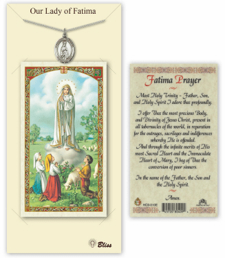 Our Lady of Fatima Pendant and Holy Prayer Card Gift Set by Bliss