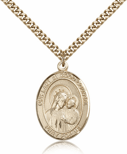 Our Lady of Good Counsel 14kt Gold Filled Patron Medal Necklace by Bliss