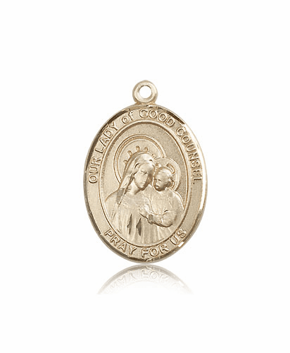 Our Lady of Good Counsel 14kt Gold Patron Saint Medal