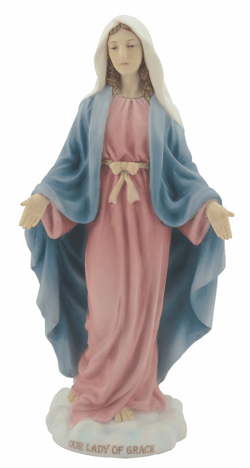 Our Lady Of Grace Hand-Painted Catholic Statue by Veronese