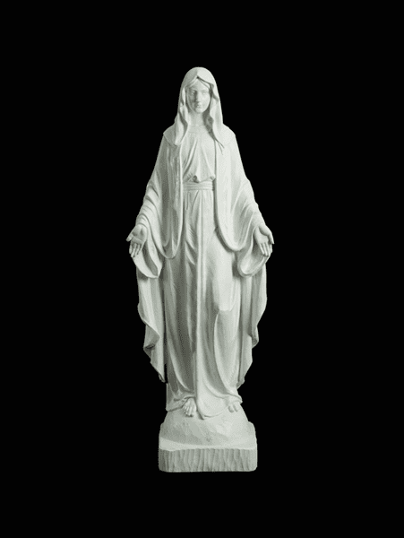 Our Lady of Grace Large White Garden Statue by Avalon Gallery