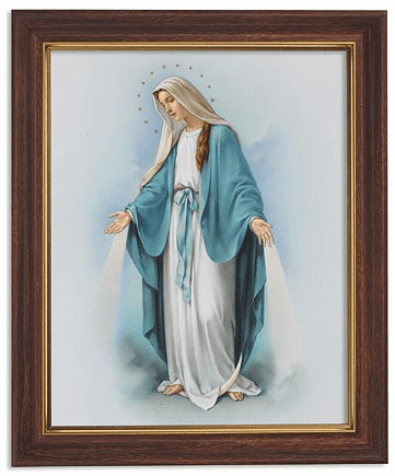 Our Lady of Grace with Twelve Stars Framed Print Picture by Gerffert