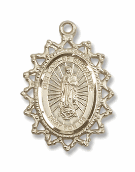 Our Lady of Guadalupe 14kt Gold Medals