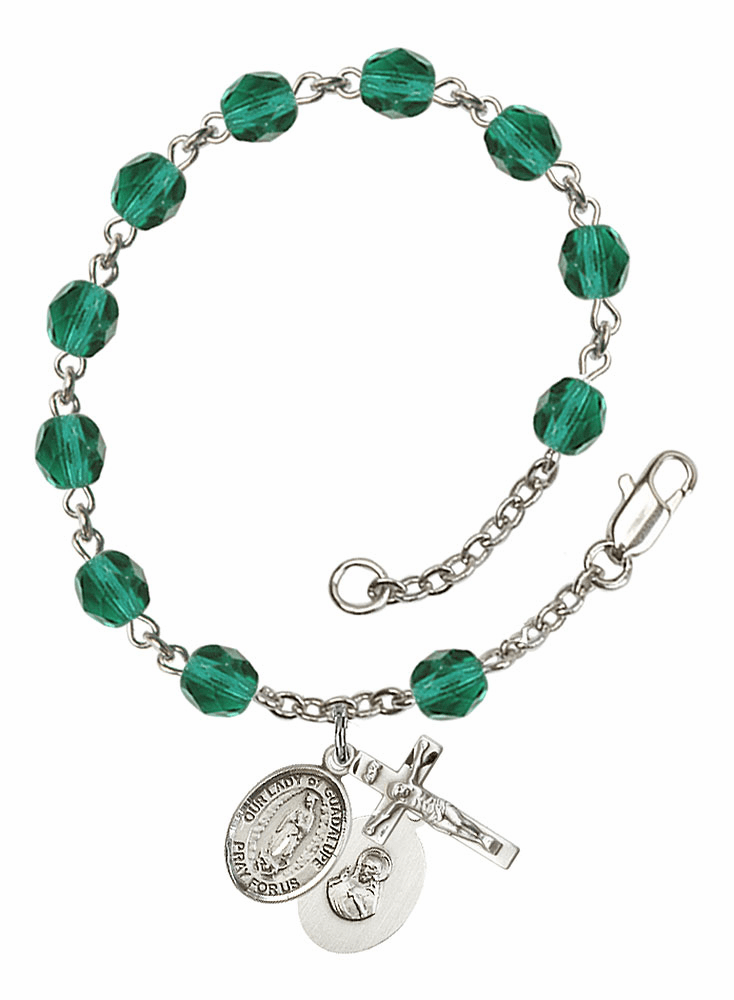 Our Lady of Guadalupe Charm Bangles and Rosary Bracelet Jewelry