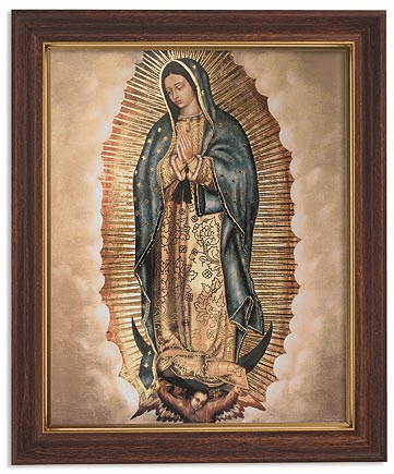 Our Lady of Guadalupe Framed Print Picture with Woodtone Frame by Gerffert