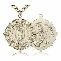 Our Lady of Guadalupe Gold-Filled and Gold-Plated Medals