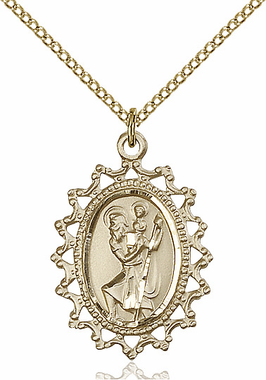 Our Lady of Guadalupe Gold Filled Necklace by Bliss