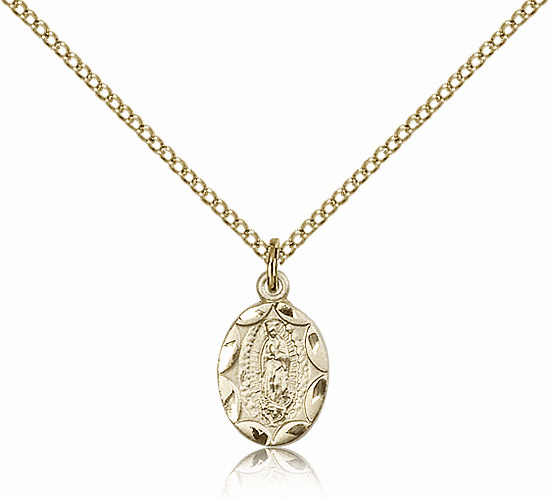 Bliss Mfg Infant/Baby Our Lady of Guadalupe Gold Filled Medal Pendant