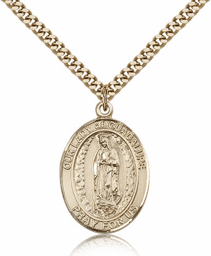 Our Lady of Guadalupe Gold Filled Religious Medal Necklace by Bliss