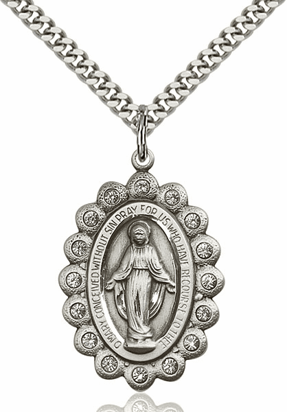 Our Lady of Guadalupe Swarovski Crystal Pendant Necklace by Bliss