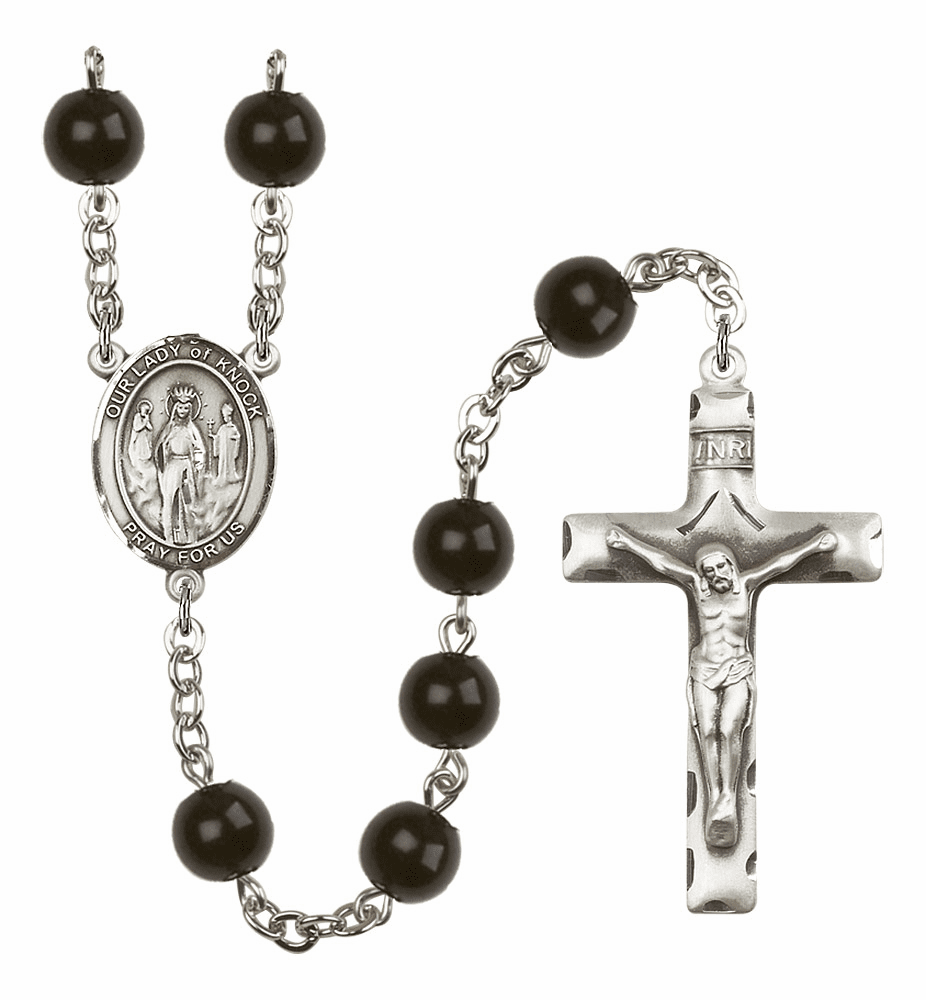 Bliss Mfg Our Lady of Knock 7mm Black Onyx Rosary