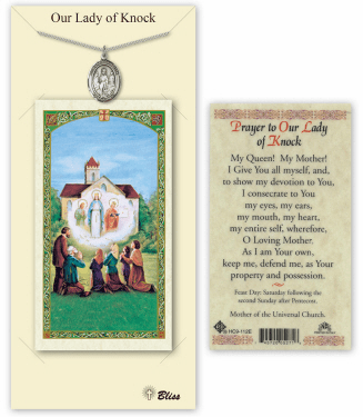 Our Lady of Knock Pendant and Holy Prayer Card Gift Set by Bliss