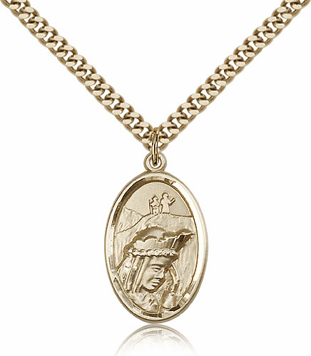 Our Lady of La Salette 14kt Gold Filled Pendant Necklace by Bliss