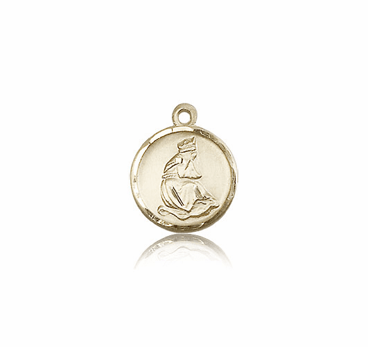 Our Lady of La Salette 14kt Gold Round Medal by Bliss