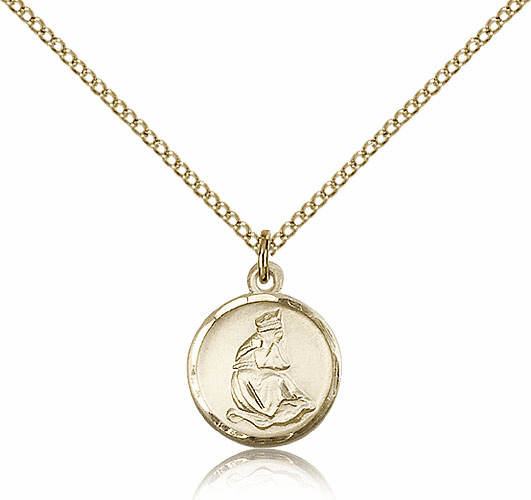 Our Lady of La Salette Round Gold Filled Pendant by Bliss