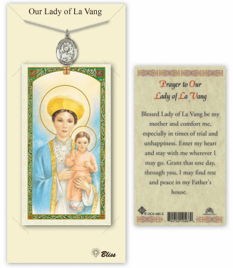 Our Lady of la Vang Pendant and Holy Prayer Card Gift Set by Bliss