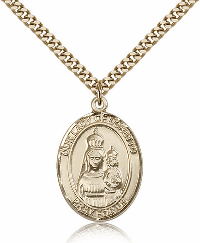 Our Lady of Loretto 14kt Gold Filled Patron Medal Pednant by Bliss