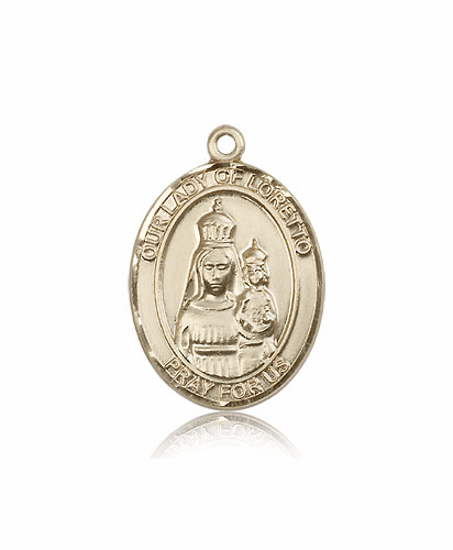 Our Lady of Loretto 14kt Gold Patron Medal Pendant by Bliss
