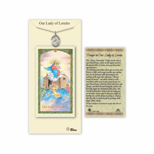 Our Lady of Loretto Pendant and Holy Prayer Card Gift Set by Bliss