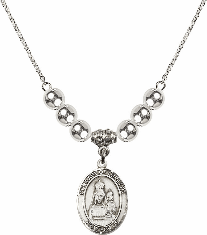 Our Lady of Loretto Silver Necklace by Bliss Mfg