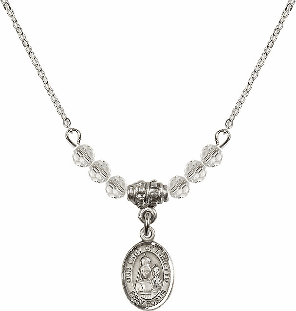 Our Lady of Loretto Swarovski Beaded Necklace by Bliss Mfg