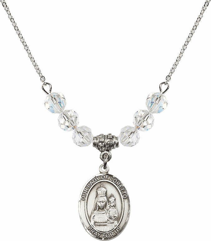 Our Lady of Loretto Swarovski Necklace by Bliss Mfg